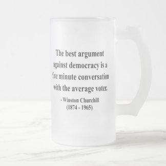 Cita 10a de Winston Churchill Taza Cristal Mate