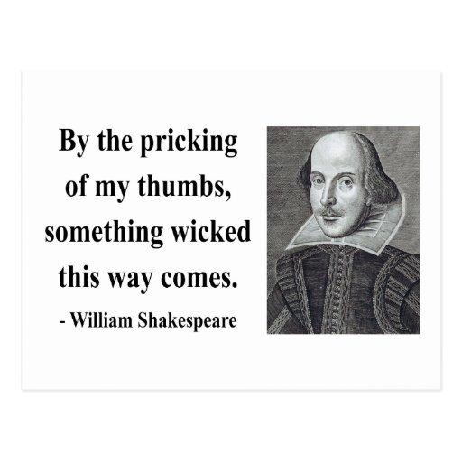 Cita 10b de Shakespeare Tarjetas Postales