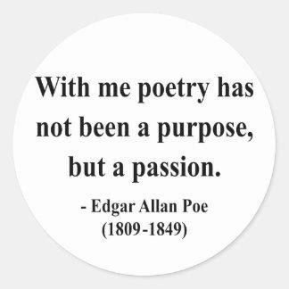 Cita 11a de Edgar Allen Poe Etiquetas Redondas