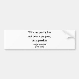 Cita 11a de Edgar Allen Poe Pegatina Para Auto