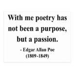 Cita 11a de Edgar Allen Poe Postal