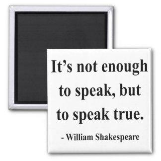 Cita 11a de Shakespeare Imán Cuadrado