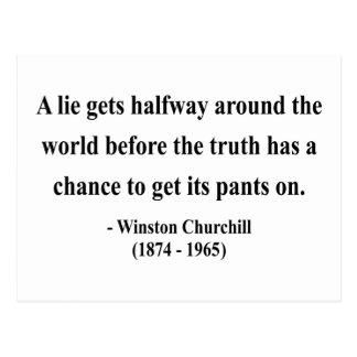 Cita 11a de Winston Churchill Postal