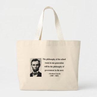 Cita 11b de Abraham Lincoln Bolsa Tela Grande