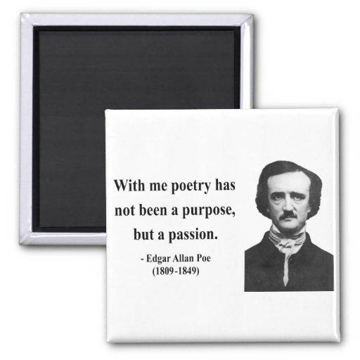 Cita 11b de Edgar Allen Poe Imán Para Frigorifico