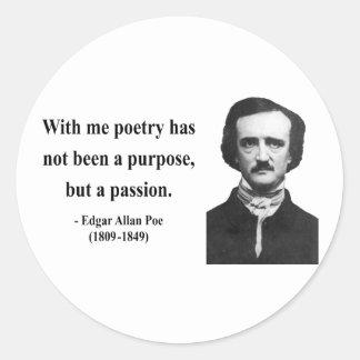 Cita 11b de Edgar Allen Poe Etiqueta Redonda