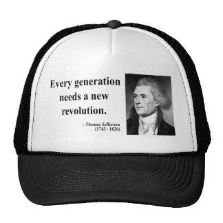 Cita 11b de Thomas Jefferson Gorras