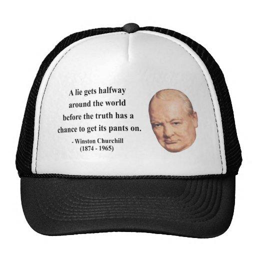 Cita 11b de Winston Churchill Gorra
