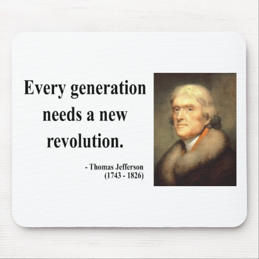 Cita 11c de Thomas Jefferson Alfombrillas De Raton