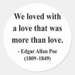 Cita 12a de Edgar Allen Poe Etiquetas Redondas