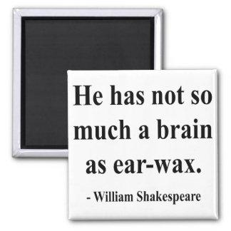 Cita 12a de Shakespeare Imán Cuadrado