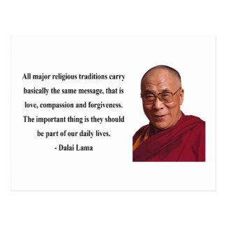 cita 12b de Dalai Lama Tarjeta Postal