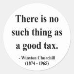 Cita 14a de Winston Churchill Etiquetas Redondas