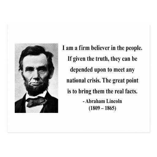 Cita 14b de Abraham Lincoln Tarjetas Postales
