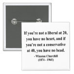 Cita 15a de Winston Churchill Pin