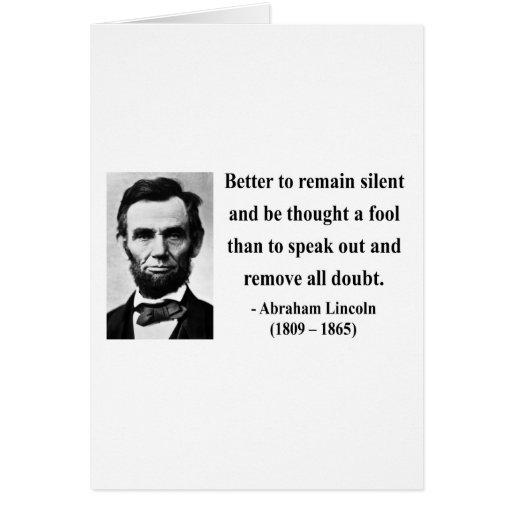 Cita 15b de Abraham Lincoln Tarjetas