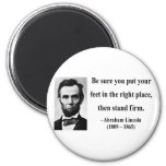 Cita 16b de Abraham Lincoln Imanes De Nevera