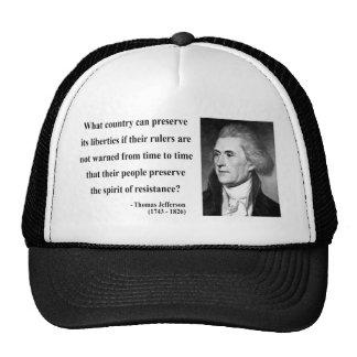 Cita 16b de Thomas Jefferson Gorros Bordados