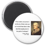 Cita 16c de Thomas Jefferson Imán Para Frigorífico