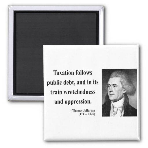 Cita 17b de Thomas Jefferson Imán Cuadrado