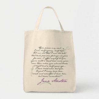 Cita #1 de la persuasión de Jane Austen Bolsa Tela Para La Compra