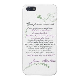 Cita #1 de la persuasión de Jane Austen iPhone 5 Carcasas