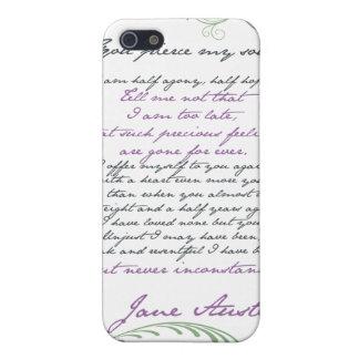 Cita #1 de la persuasión de Jane Austen iPhone 5 Protector
