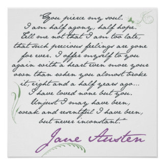 Cita #1 de la persuasión de Jane Austen Posters