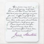 Cita #1 de la persuasión de Jane Austen Alfombrilla De Raton