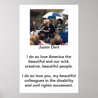 Cita 1 del dardo de Justin Posters