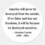 Cita 1a de Abraham Lincoln Etiquetas