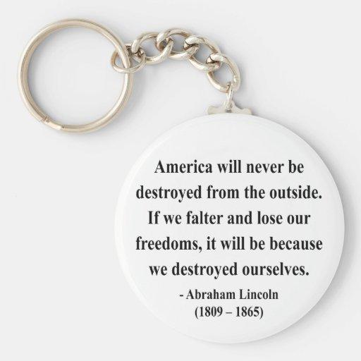 Cita 1a de Abraham Lincoln Llavero