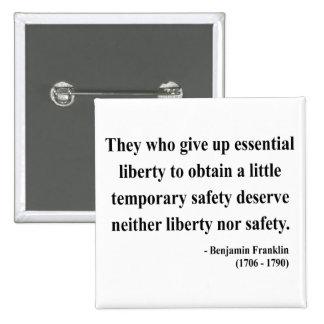 Cita 1a de Ben Franklin Pins
