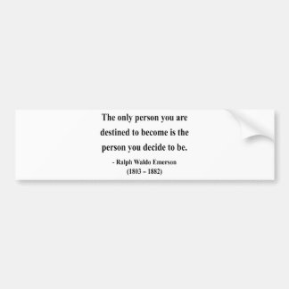 Cita 1a de Emerson Pegatina De Parachoque