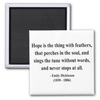 Cita 1a de Emily Dickinson Imán Cuadrado