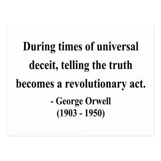Cita 1a de George Orwell Tarjetas Postales