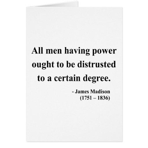 Cita 1a de James Madison Felicitaciones