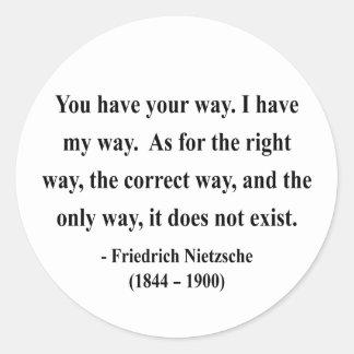 Cita 1a de Nietzsche Etiqueta Redonda
