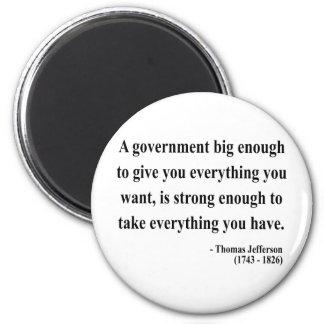 Cita 1a de Thomas Jefferson Imán Redondo 5 Cm
