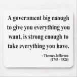 Cita 1a de Thomas Jefferson Tapetes De Ratón
