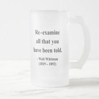 Cita 1a de Whitman Taza De Cristal