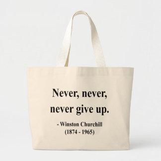 Cita 1a de Winston Churchill Bolsa Tela Grande