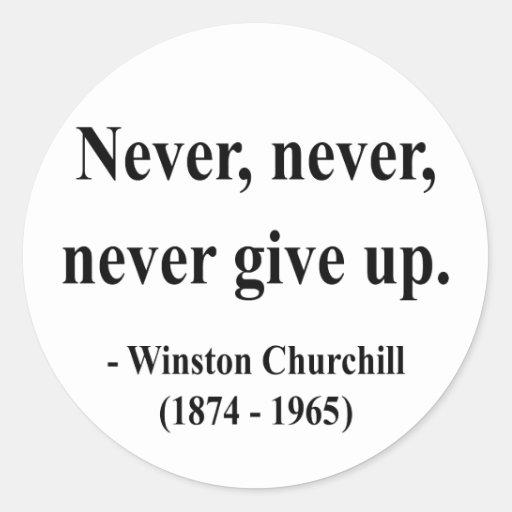 Cita 1a de Winston Churchill Pegatina Redonda