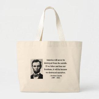 Cita 1b de Abraham Lincoln Bolsa Lienzo