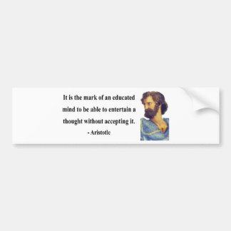 Cita 1b de Aristóteles Pegatina De Parachoque