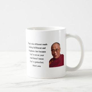 cita 1b de Dalai Lama Taza Básica Blanca