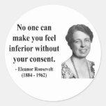 Cita 1b de Eleanor Roosevelt Pegatina Redonda
