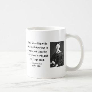 Cita 1b de Emily Dickinson Taza Básica Blanca
