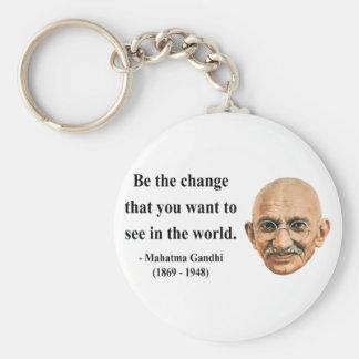 Cita 1b de Gandhi Llavero Redondo Tipo Pin