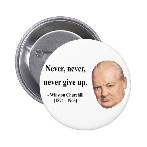 Cita 1b de Winston Churchill Pin
